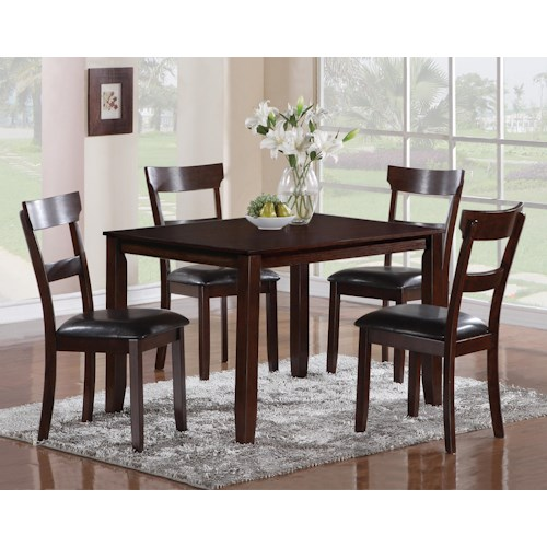 CM Henderson 5 Piece Dining Table and Chair Set