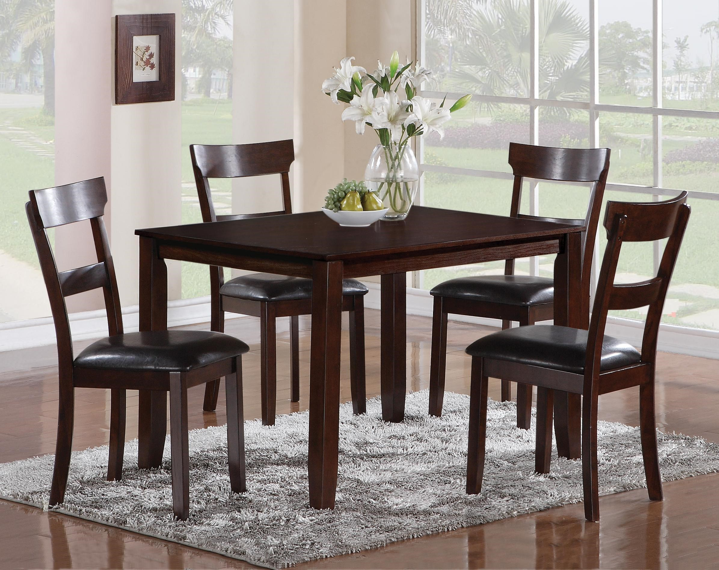 Henderson 5 Piece Dining Table And Chair Set   Belfort Furniture   Dining 5  Piece Sets