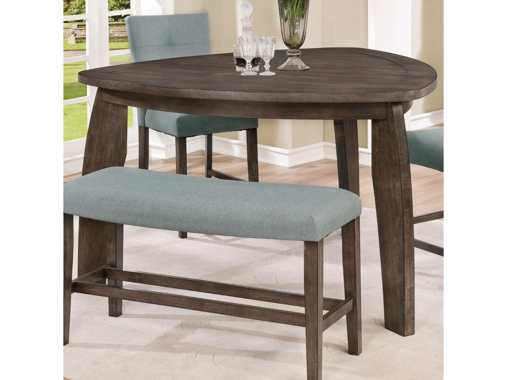 Crown Mark Hollis Triangle Counter Height Table Royal Furniture