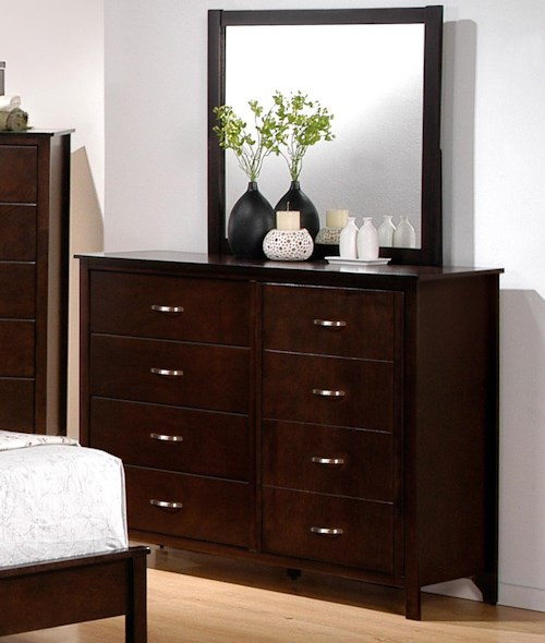 with mirror ava z drawer dresser scl rect gallerie p
