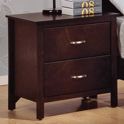 CM Ian 2 Drawer Night Stand