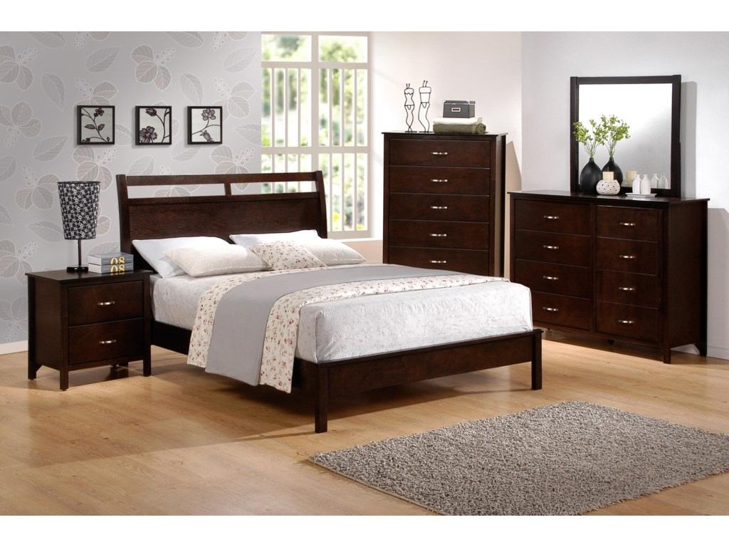 Crown Mark IanQueen Low-Profile Bed