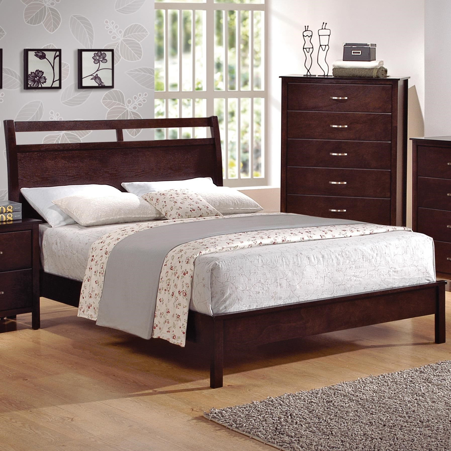 crown mark ian queen lowprofile bed with cutout headboard