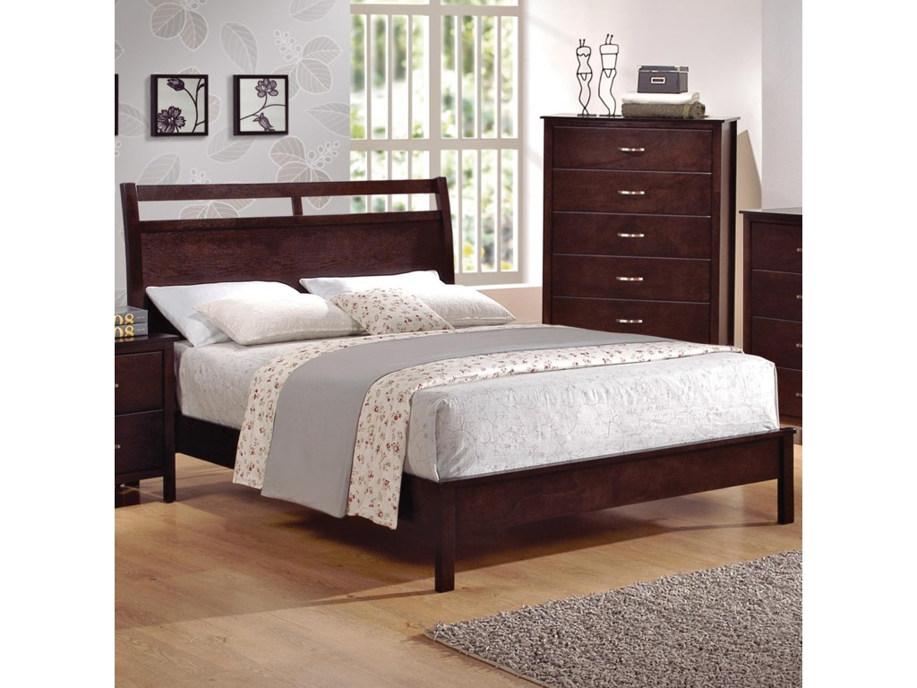 Crown Mark IanFull Low-Profile Bed