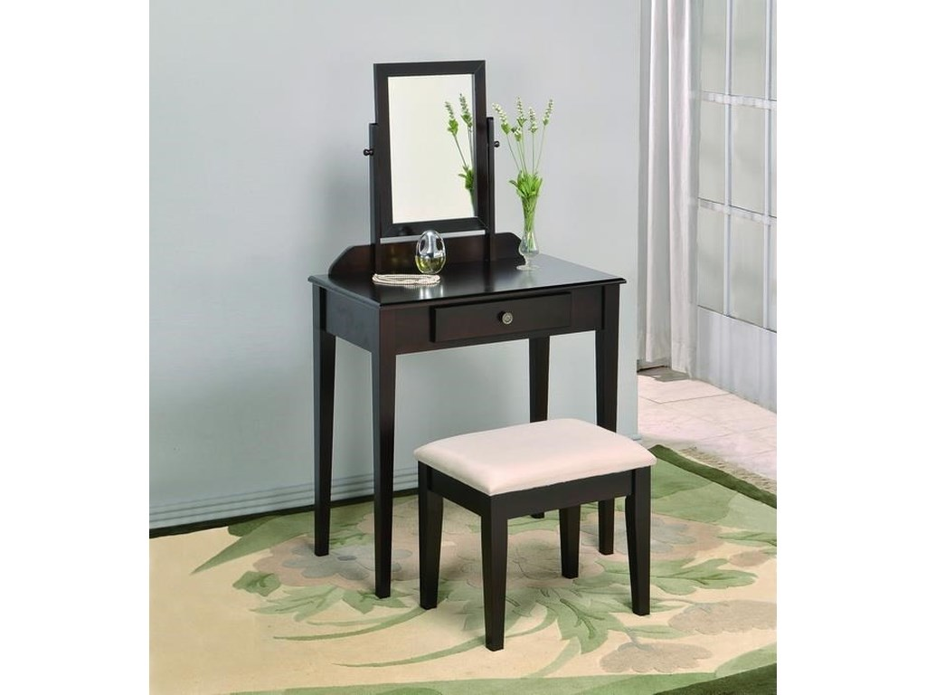 Crown Mark IrisVanity Table & Stool