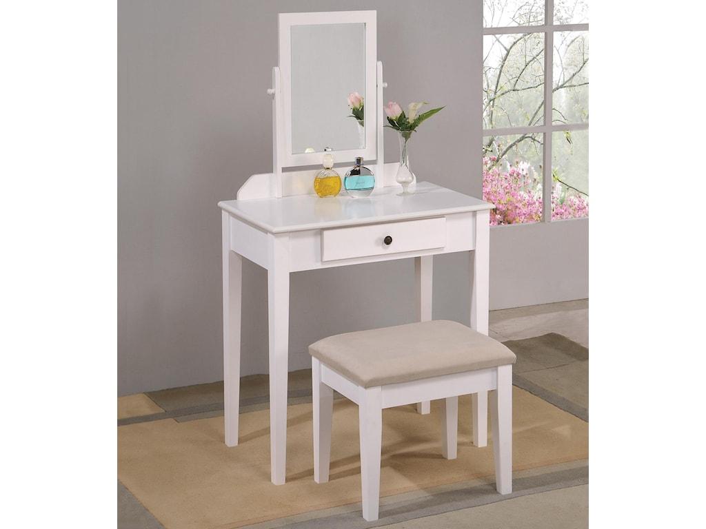 Vanity Set.Iris Vanity Table Stool By Crown Mark At Sam Levitz Furniture