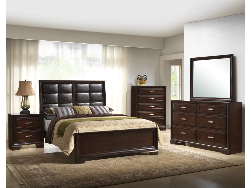 Shown with Night Stand, Bed, Chest, & Dresser