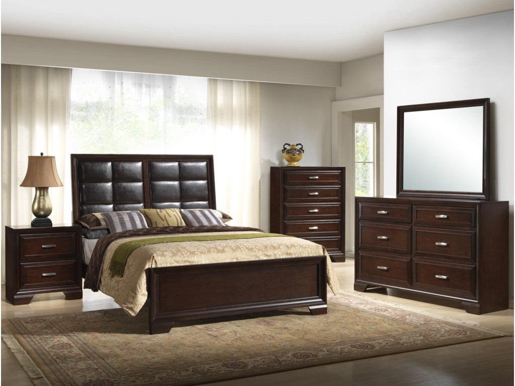 Shown with Bed, Chest, Dresser, & Mirror