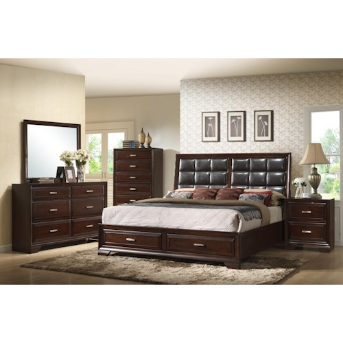 Crown Mark Jacob Queen Bedroom Group