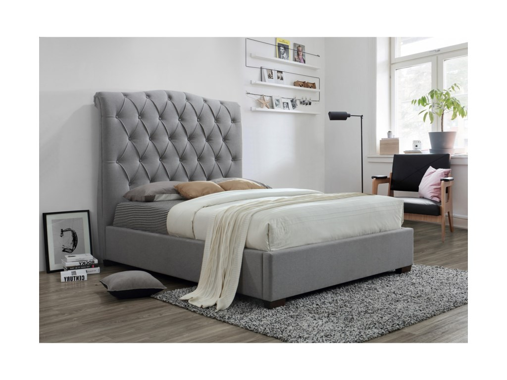 Crown Mark JaniceQueen Upholstered Bed