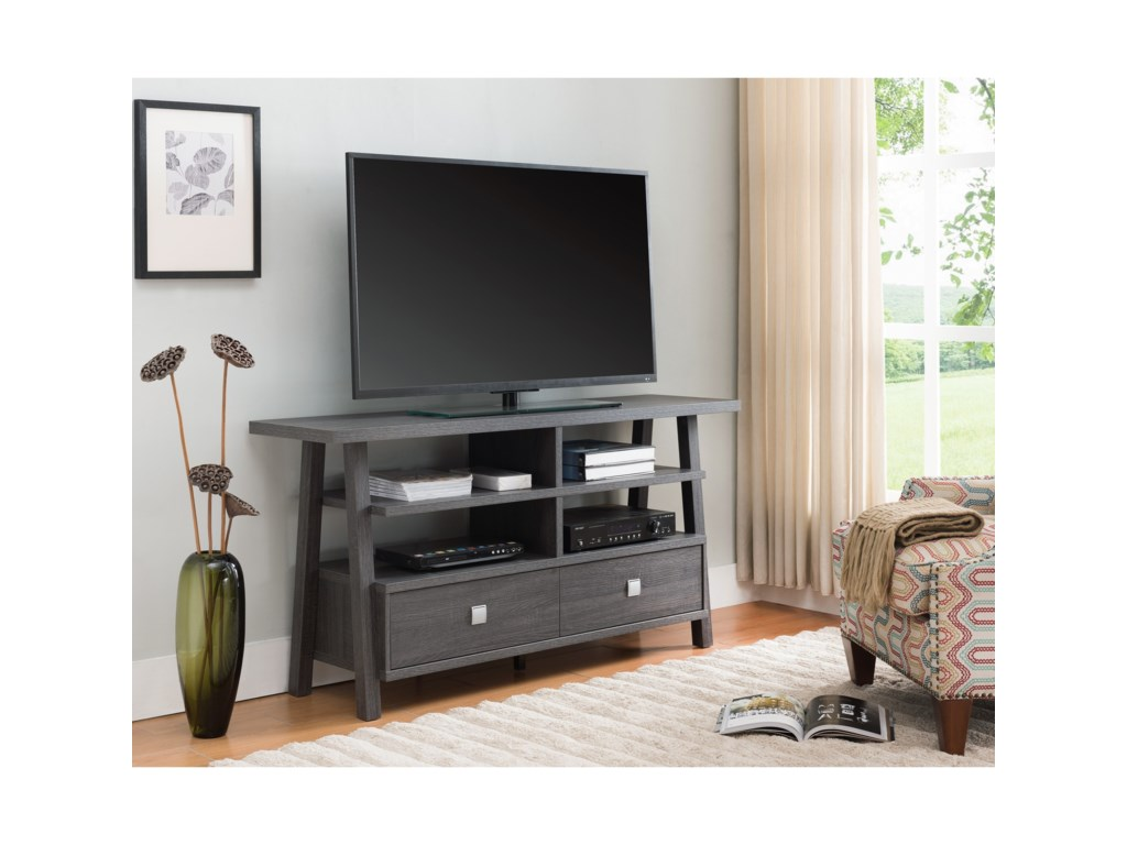 Crown Mark JarvisTv Stand Assembled Drawers