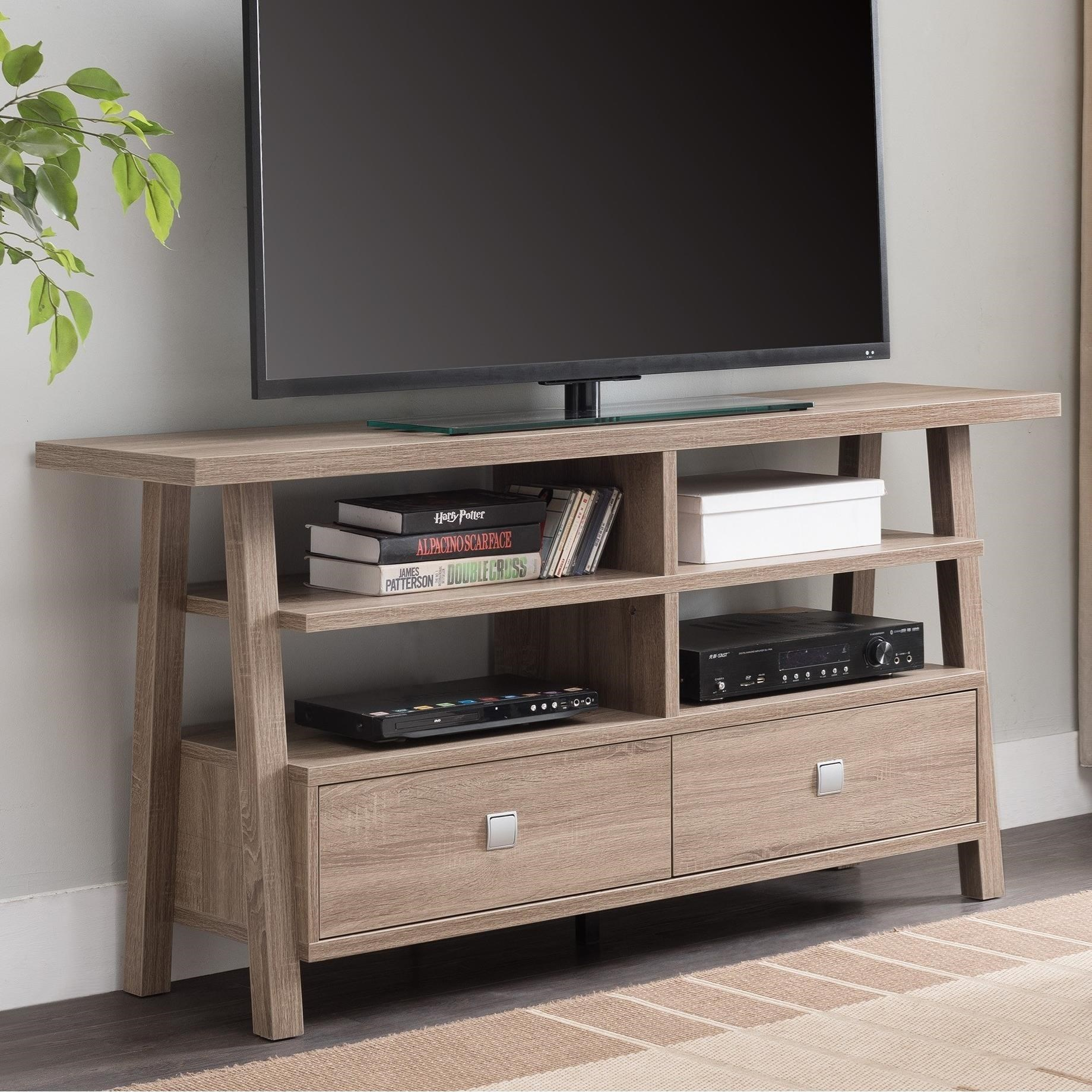 Crown Mark JarvisTv Stand Assembled Drawers ...