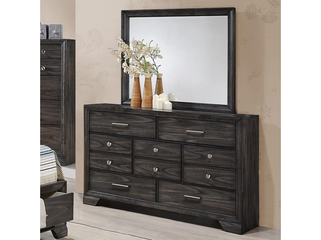 Crown Mark JaymesDresser and Mirror Combo