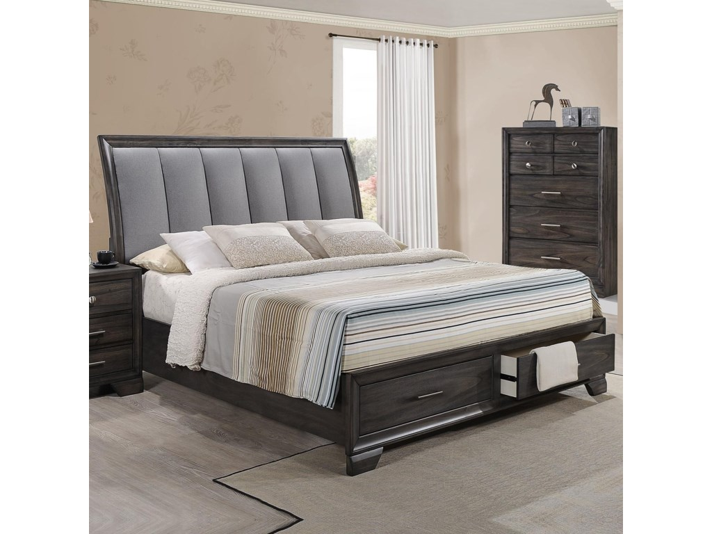 Belfort Essentials JaymesQueen Storage Bed