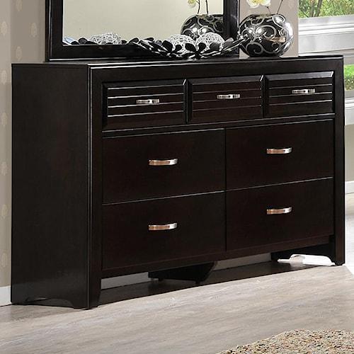 Crown Mark Jocelyn Rectangular Dresser with 7 Drawers