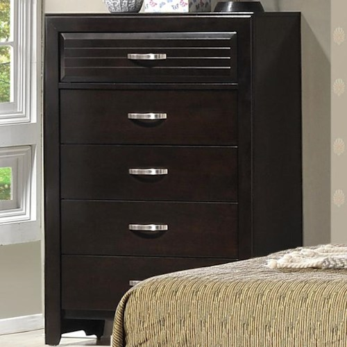 CM Jocelyn Tall 5 Drawer Chest with Panel Top Drawer