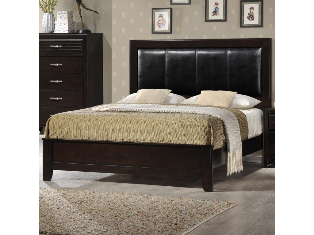 33a1156ad6 Crown Mark Jocelyn California King Low Profile Upholstered Bed ...