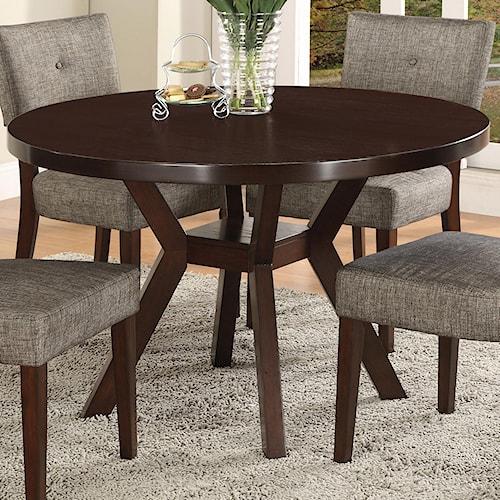 Crown Mark Kayla Round Trestle Base Dining Table