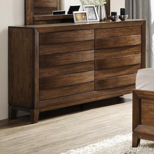 Crown Mark Kelton Contemporary Dresser with Six Drawers