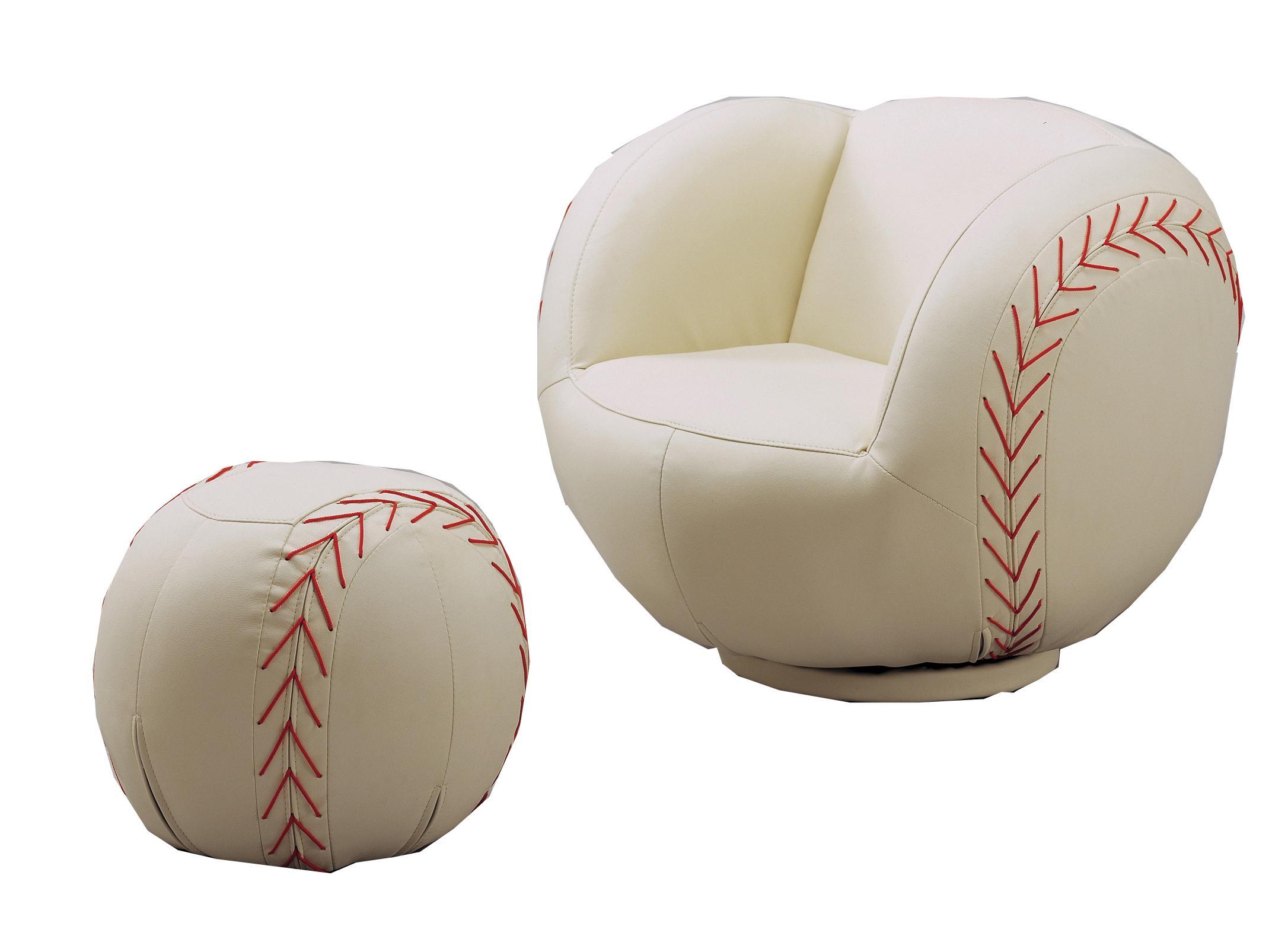 Crown Mark Kids Sport Chairs Baseball Swivel Chair U0026 Ottoman