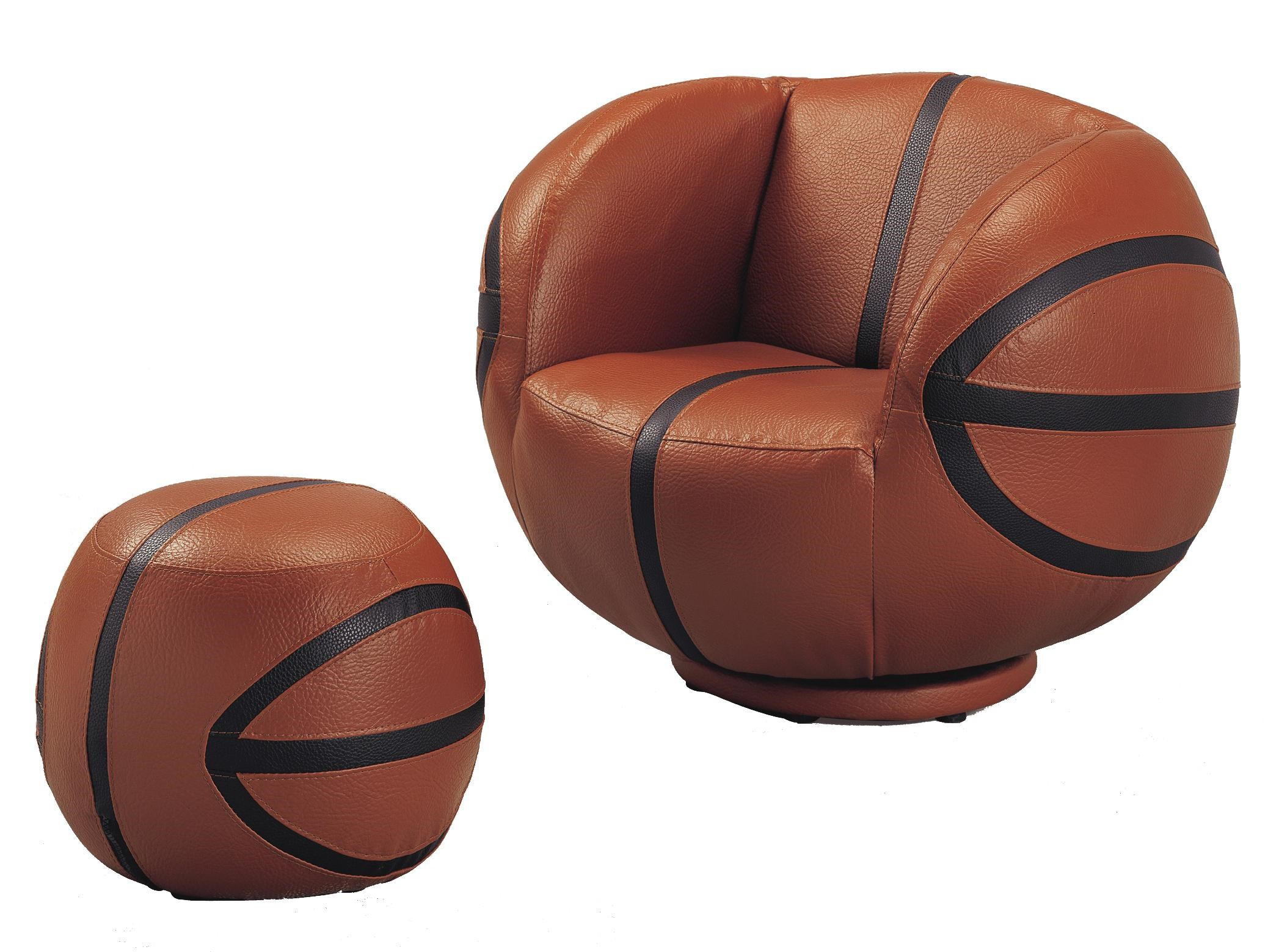 Kids Sport Chairs Basketball Swivel Chair u0026 Ottoman by Crown Mark  sc 1 st  Dunk u0026 Bright Furniture : basketball chairs - lorbestier.org