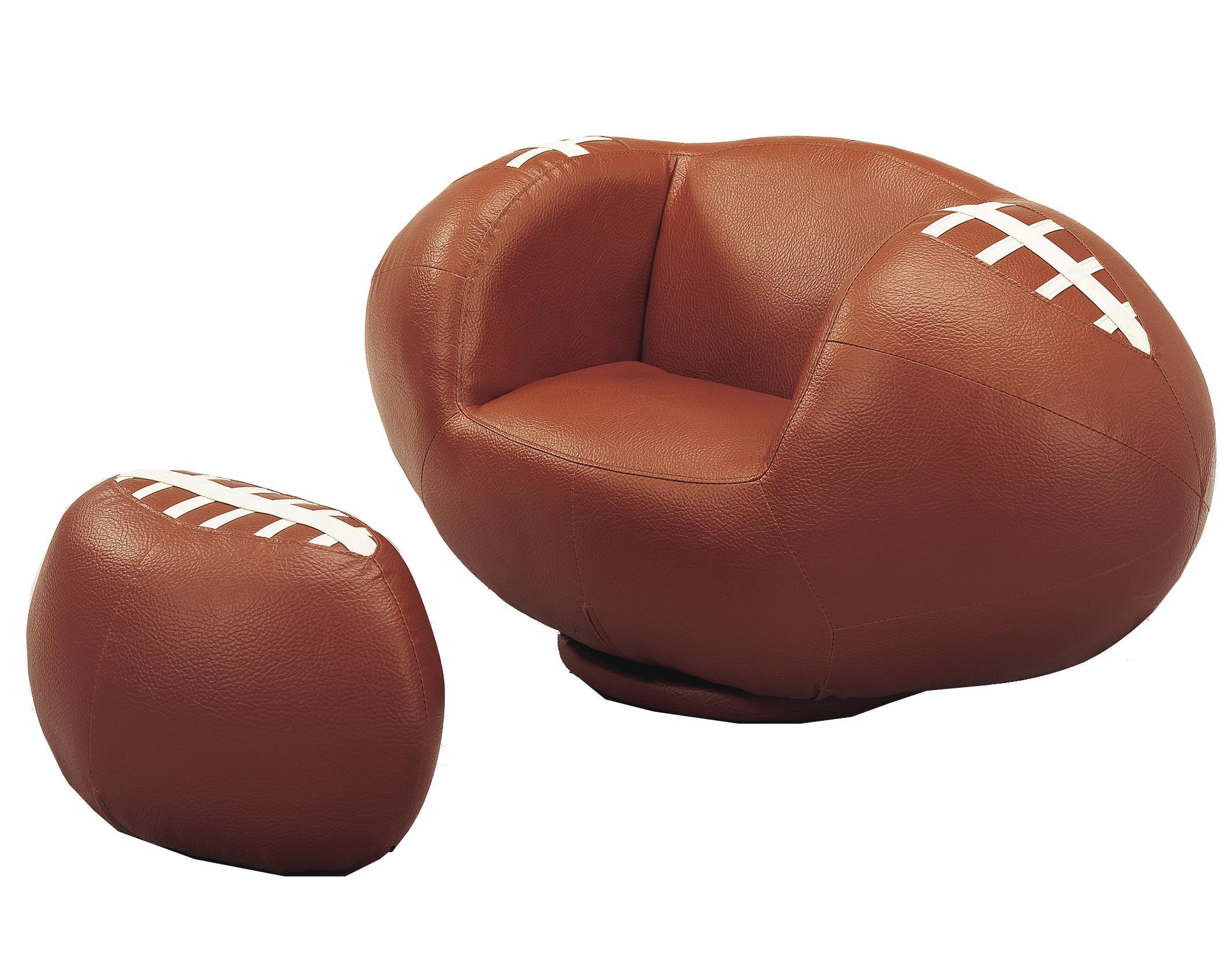 Crown Mark Kids Sport Chairs Football Swivel Chair U0026 Ottoman