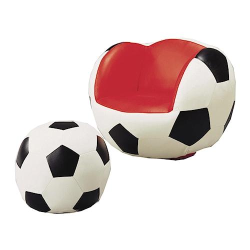 Crown Mark Kids Sport Chairs Soccer Swivel Chair & Ottoman