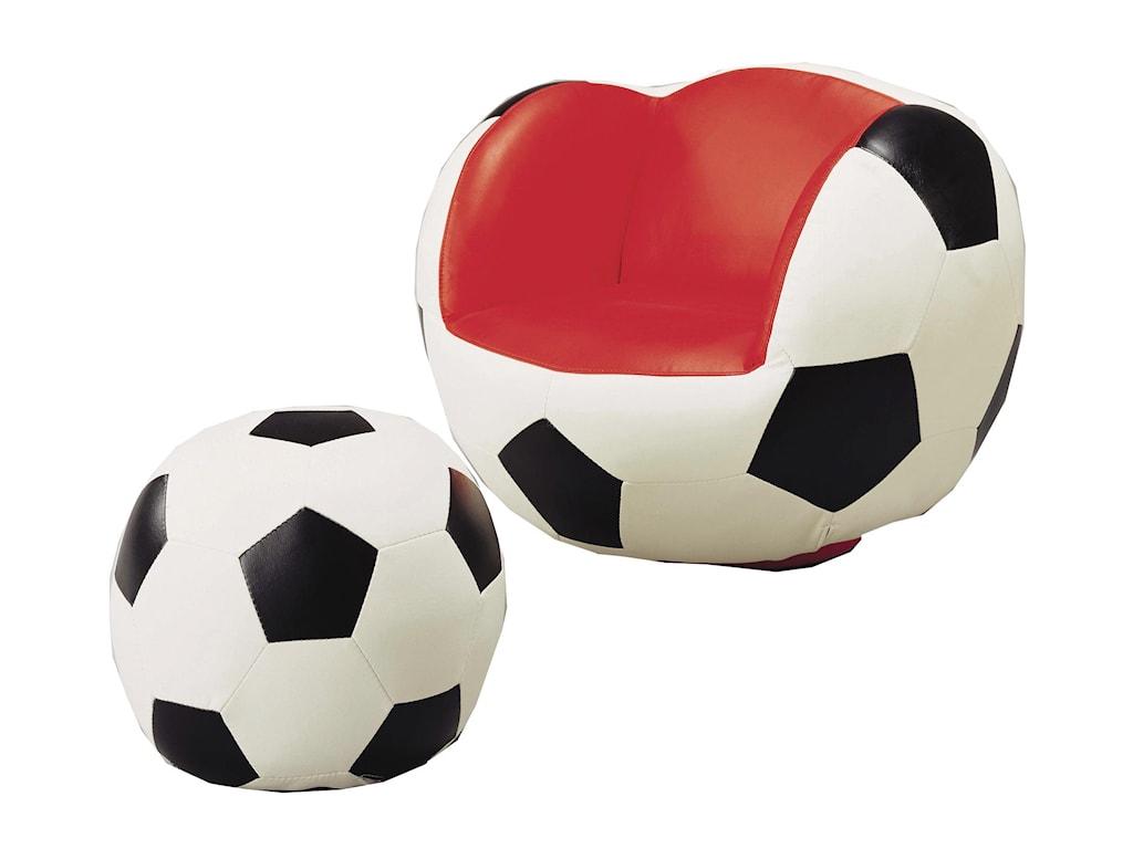 Belfort Essentials Kids Sport ChairsSoccer Chair & Ottoman