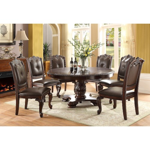 Crown Mark Kiera Traditional Round Dining Table