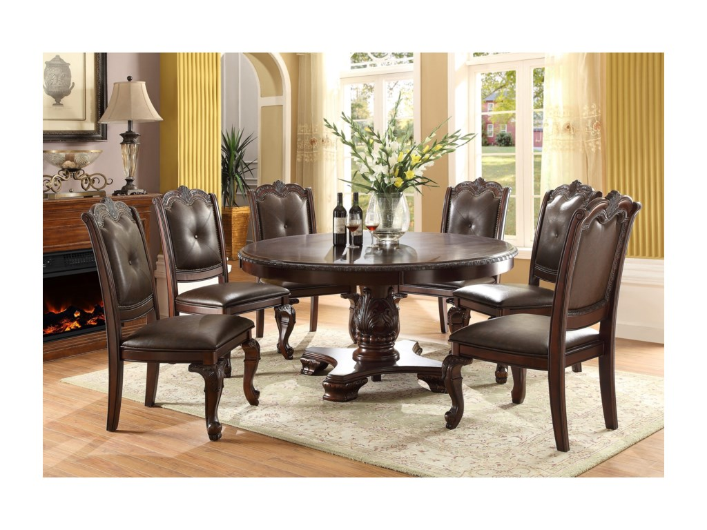 Kiera Traditional Round Dining Table by Crown Mark at Royal Furniture