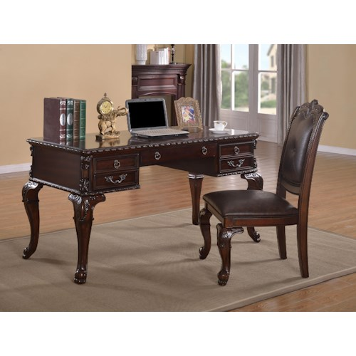 Crown Mark Kiera Desk and Chair Set