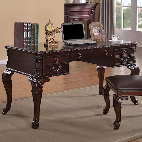Crown Mark Kiera Classical Home Office Desk