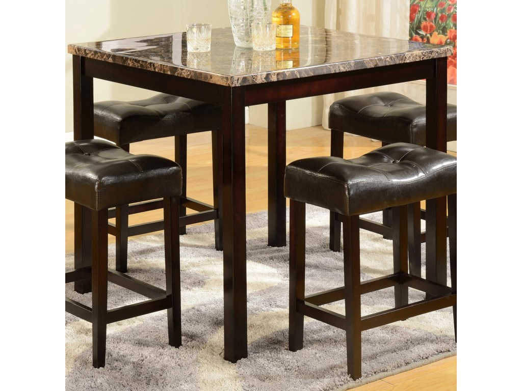 Crown Mark Kinsey5 Piece Counter Table & Stool Set