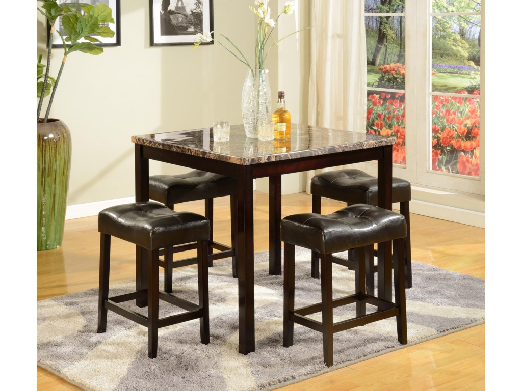 Del Sol CM Kinsey5 Piece Counter Table & Stool Set