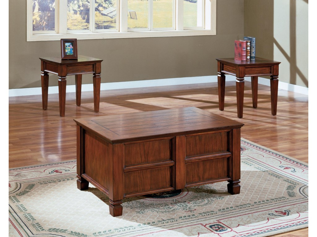 Crown Mark Knoxville3 Piece Cocktail Table Set