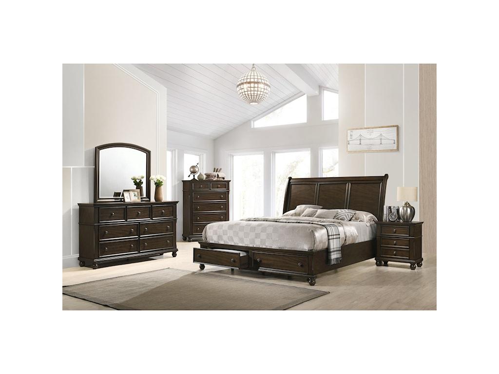 Crown Mark LaraKing Storage Bed