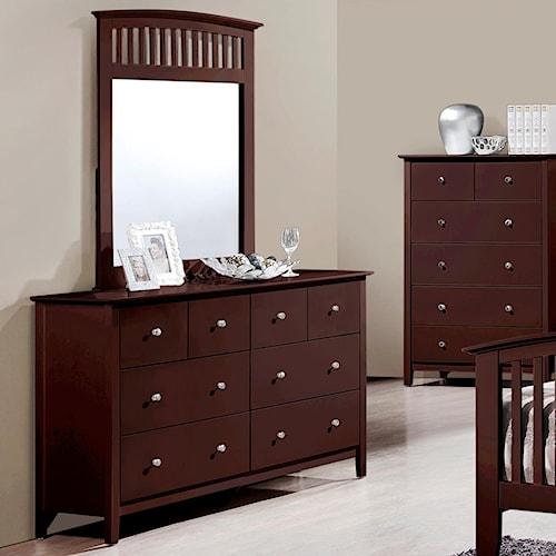 Crown Mark Lawson  Dresser and Mirror Set