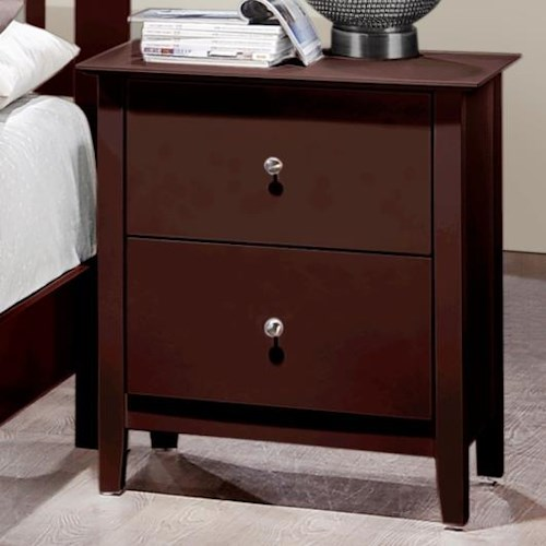 Crown Mark Lawson  Two Drawer Nightstand