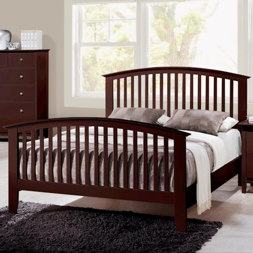 Crown Mark Lawson  California King Slatted Headboard & Footboard Bed