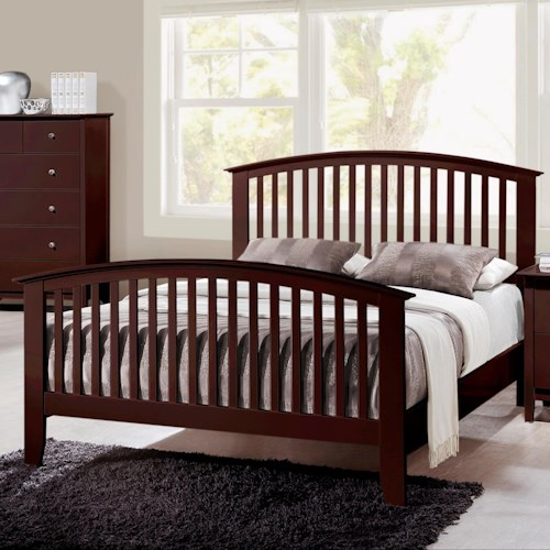 Crown Mark Lawson  King Slatted Headboard & Footboard Bed