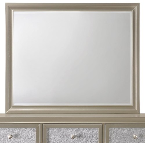 Crown Mark Lila Glam Mirror with Wood Frame