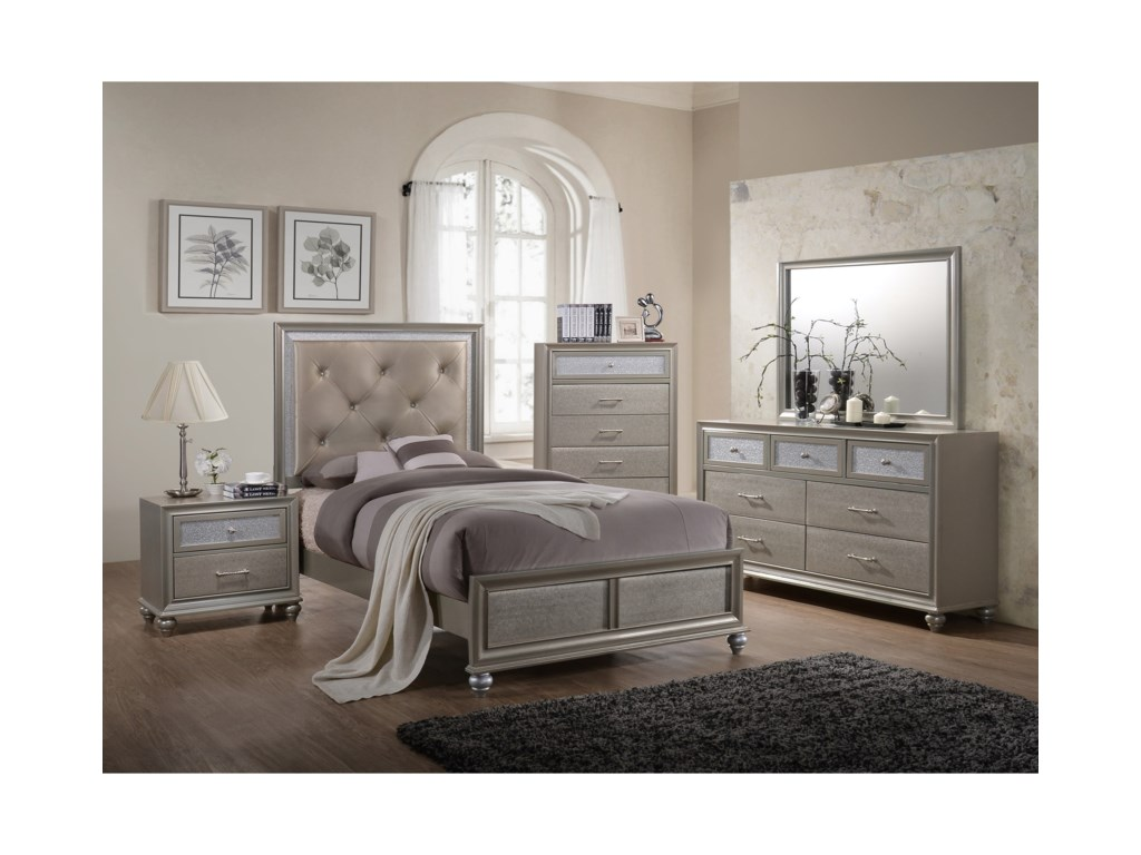 Crown Mark LilaTwin Bed