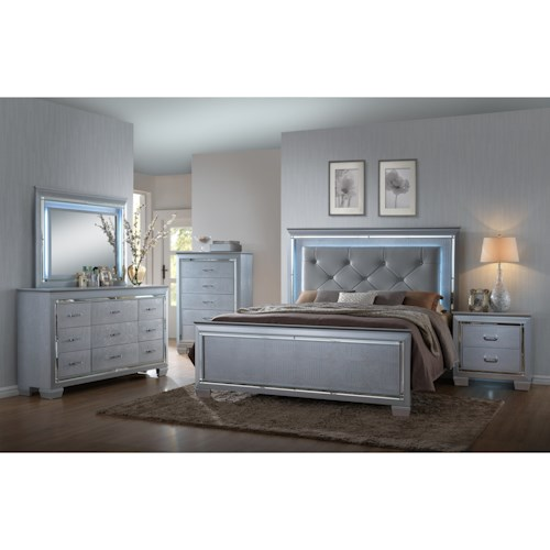 Crown Mark Lillian King Bedroom Group