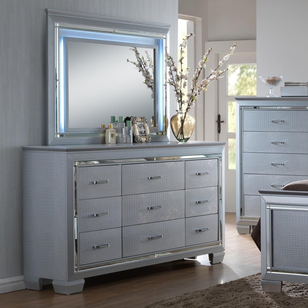 Crown Mark LillianDresser And Mirror Set ...