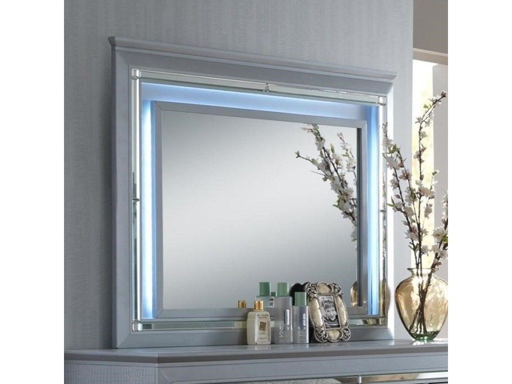 Crown Mark Lillian Dresser Mirror With Led Backlight Wayside