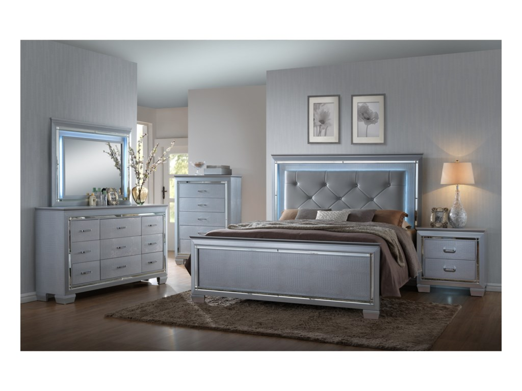 Crown Mark LillianQueen Headboard and Footboard Bed