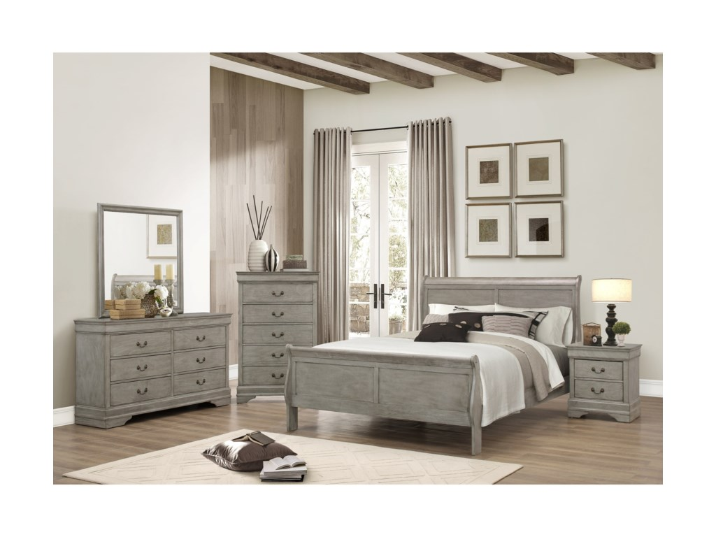 Crown Mark Louis Phillipe Twin Bedroom Group | Miskelly Furniture ...