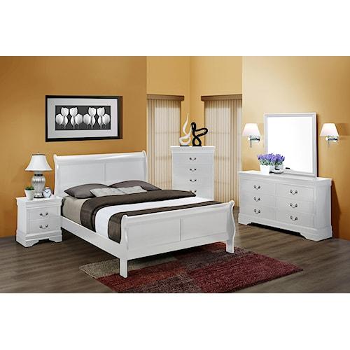 Crown Mark Louis Phillipe Twin Bedroom Group