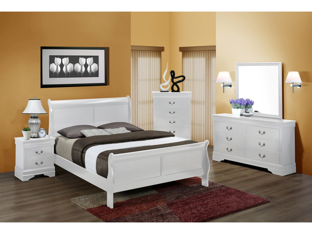 Crown Mark Louis Phillipetwin Bedroom Group Bed