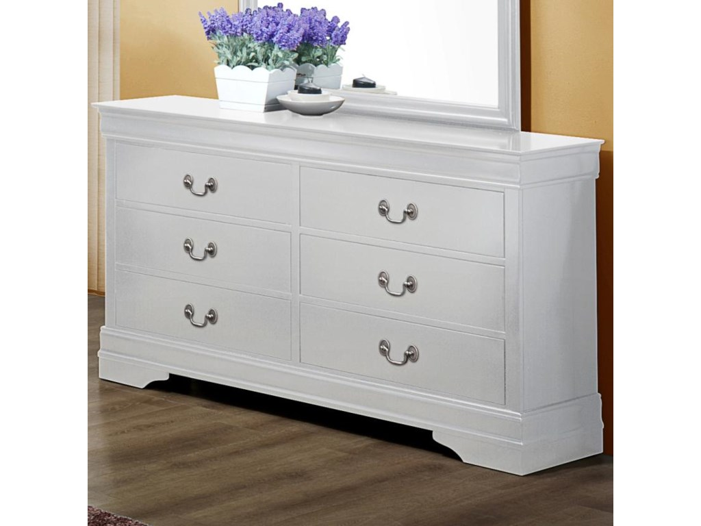 Crown Mark Louis Phillipe B3600 1 Traditional Dresser With 6 Drawers Dunk Bright Furniture Dressers